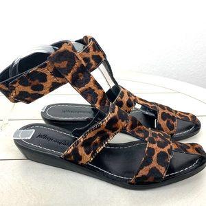 Jeffrey Cambell Niram Cheetah Ankle Strap Sandals